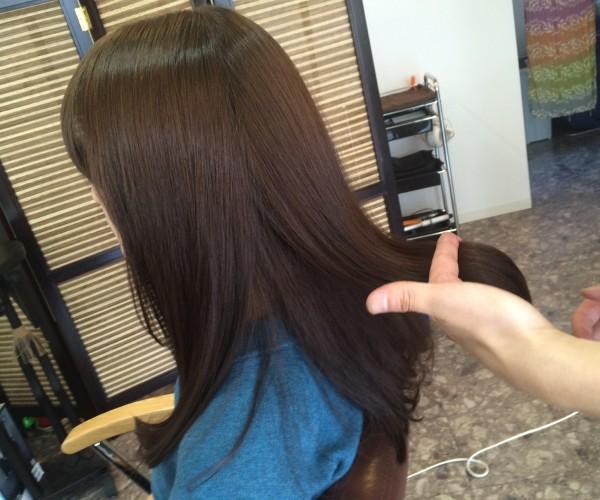 トリートメントをした髪の毛のツヤ