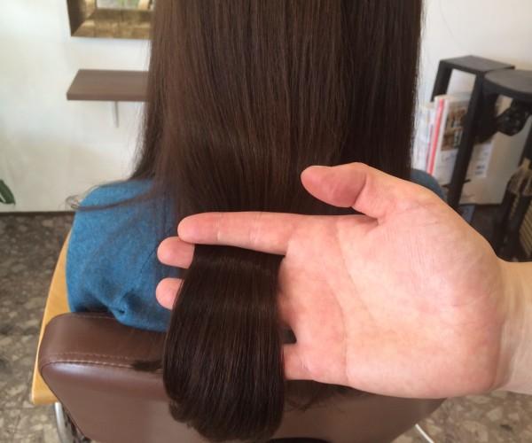 トリートメントをした髪の毛のツヤ2